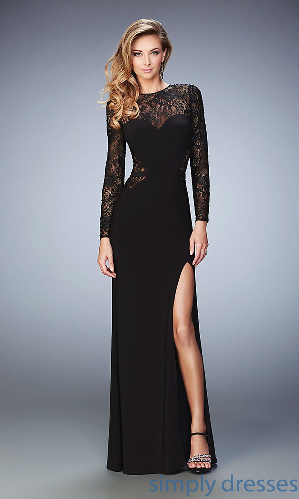 Homecoming dresses formal prom dresses evening wear black long