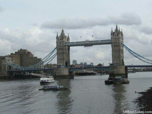 Tower Bridge, London, England – Built from 1886 till 1894, this symbol of London is a combined bascule and suspension bridge in London, over the River Thames. It is close to the Tower of London, from which it takes its name