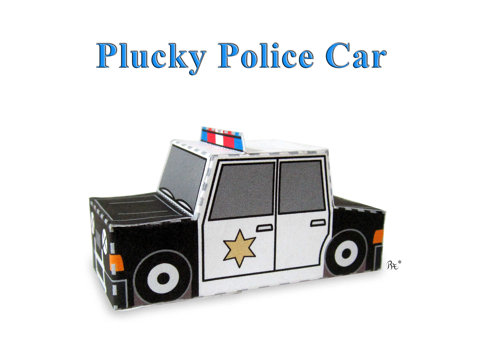 Plucky Police Car From Emergency Vehicles Set Of 3 Paper
