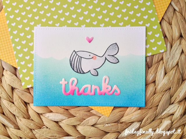 """fridayfinally: """"Thanks"""" a cute card feat. Paper Smooches!"""