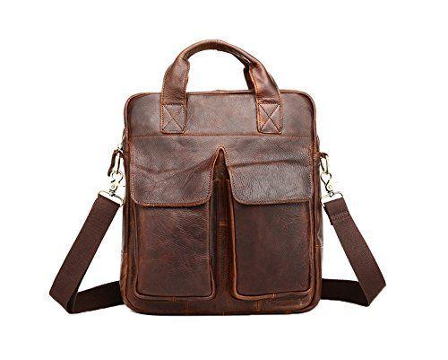 Genda 2Archer Vintage Genuine Leather Satchel Briefcase Messenger Shoulder Bag
