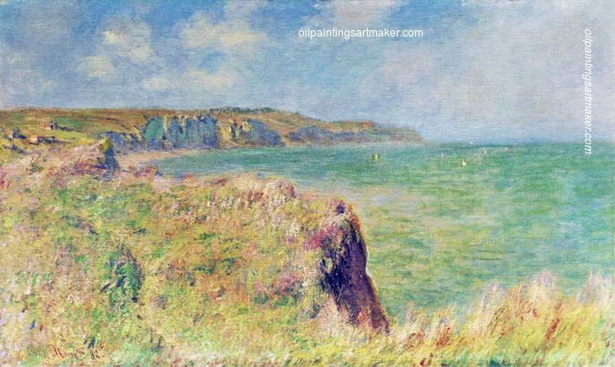 Claude Monet Edge of the Cliff at Pourville, 1882 painting outlet, painting