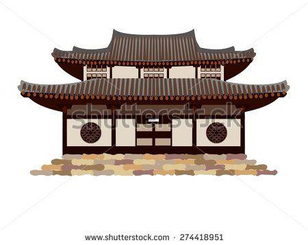 Japanese Temple Door Stock Vectors Vector Clip Art
