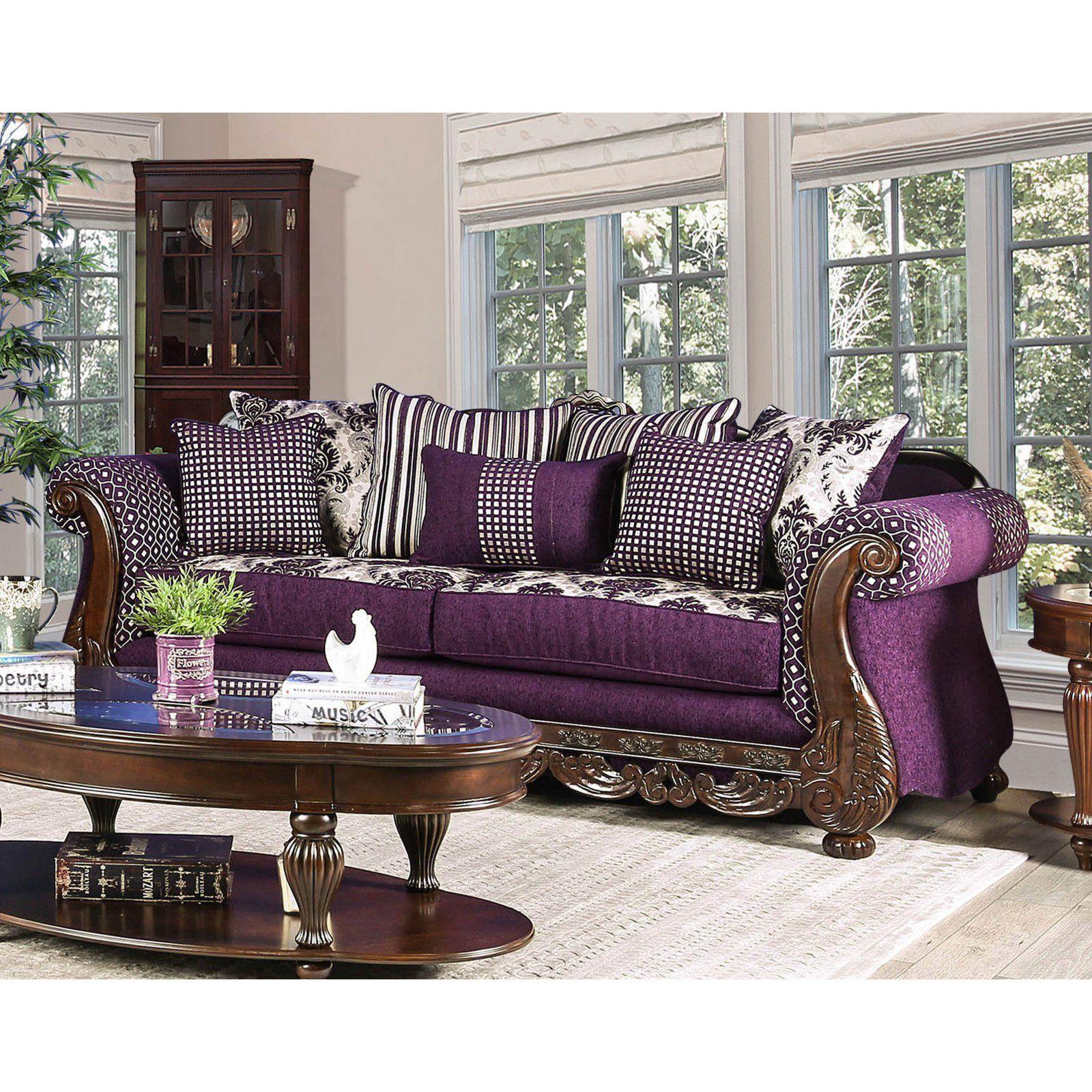 Furniture Of America Ava Traditional Sofa Furniture Of America