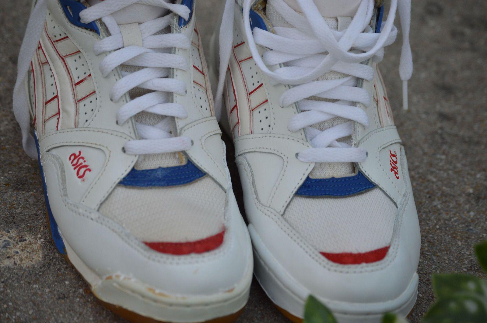 RARE Vintage Asics Mens Basketball High Top Shoes Size 10