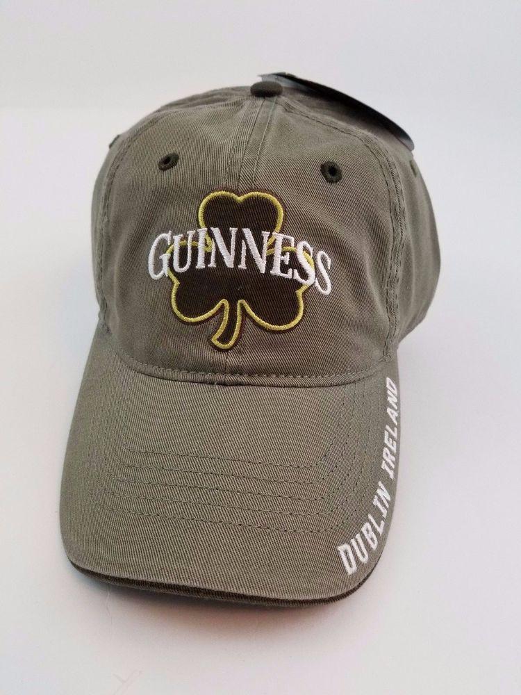 69ffad98cff Guinness Baseball Cap Hat Shamrock Green Beer Dublin Ireland NWT Velcro   Guinness  BaseballCap