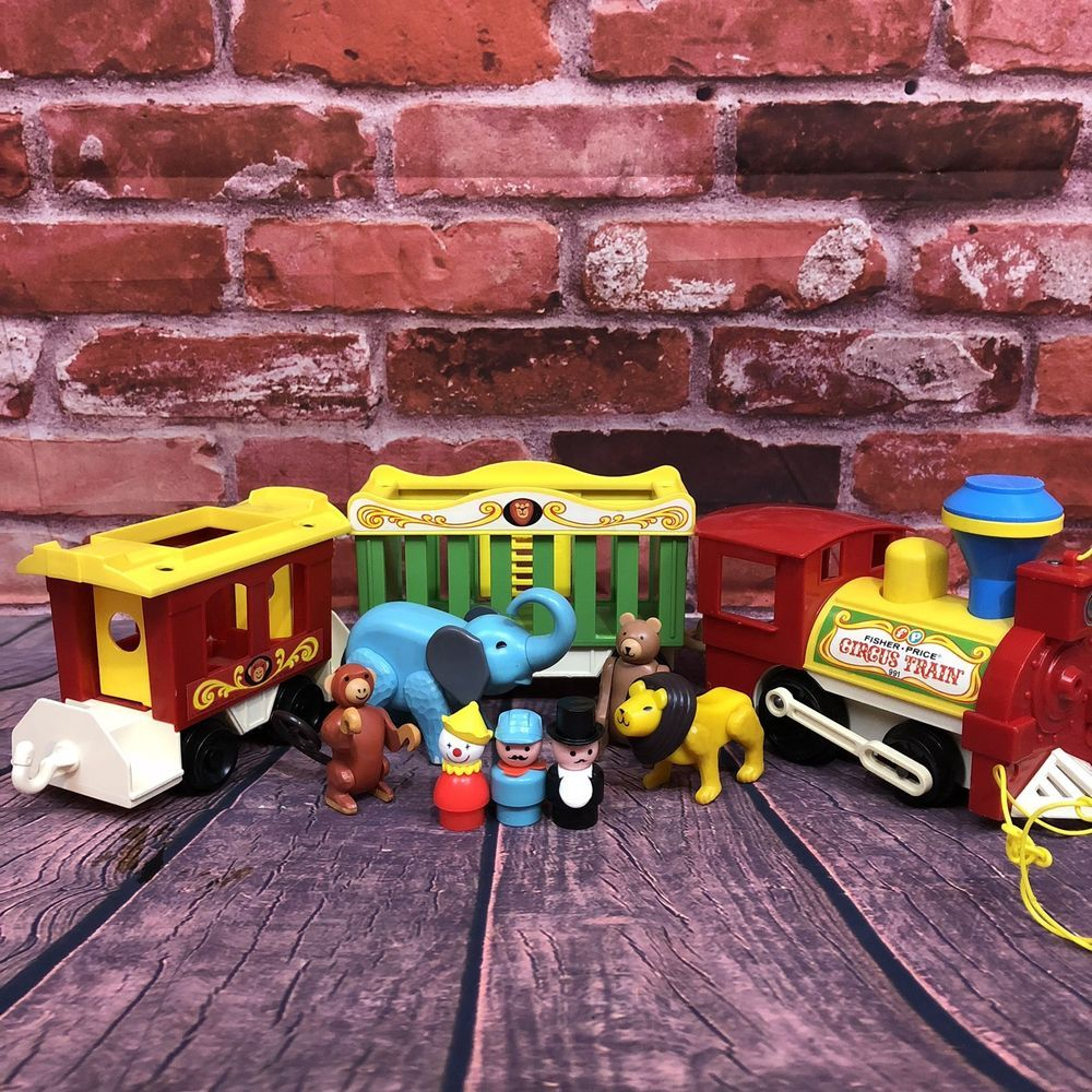 Little people car toys  Vintage Fisher Price Little People Play Family Circus Train