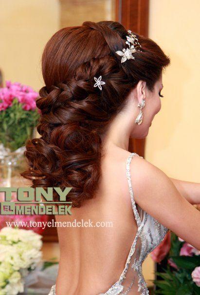 Lebanese Hair Style Wedding Bride Kapsels Bruidskapsel Haar