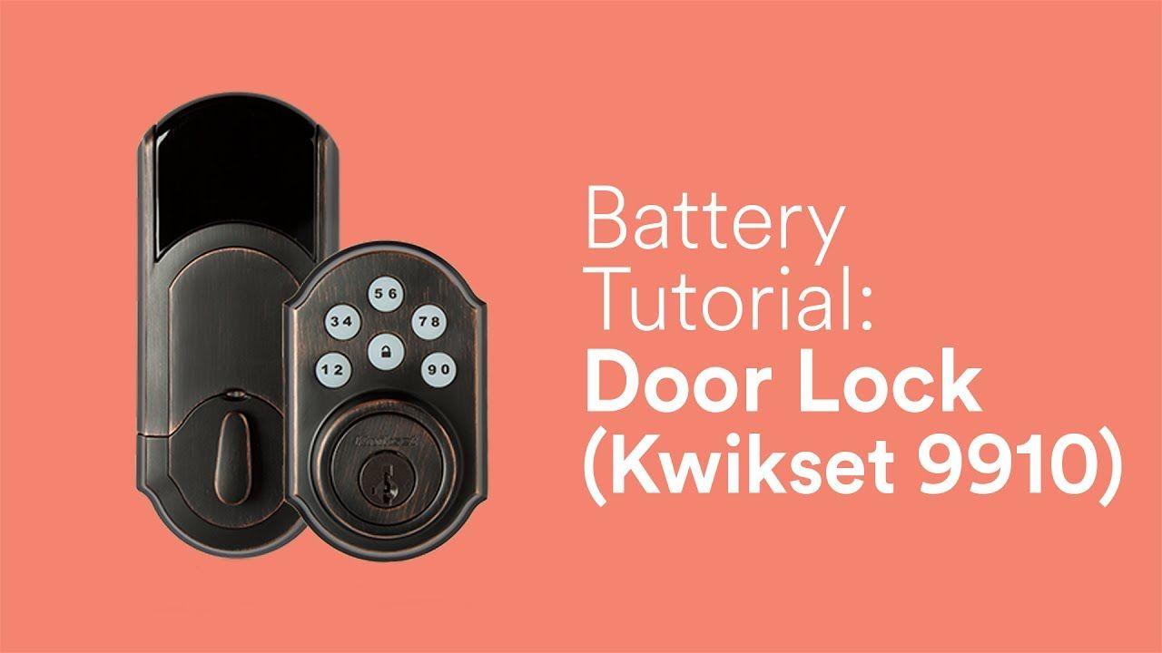 Battery Tutorial Door Lock 9910 Door Locks Vivint Orange Door