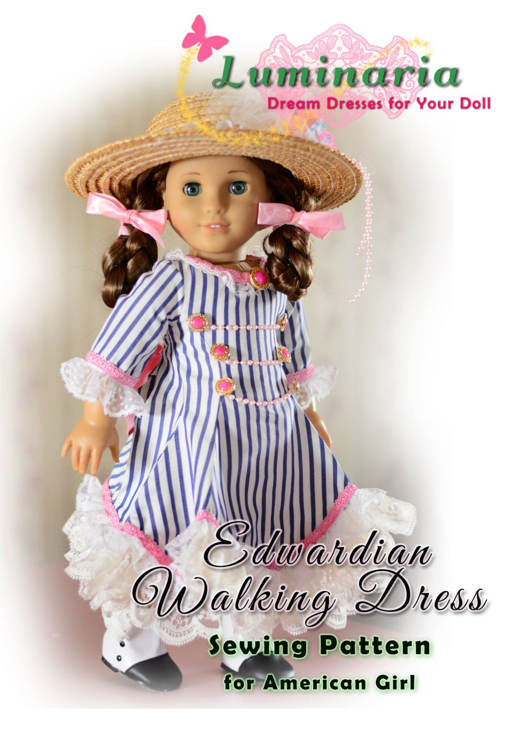 Doll Clothes Pattern in PDF To Make Edwardian Walking Dress, Outfit ...