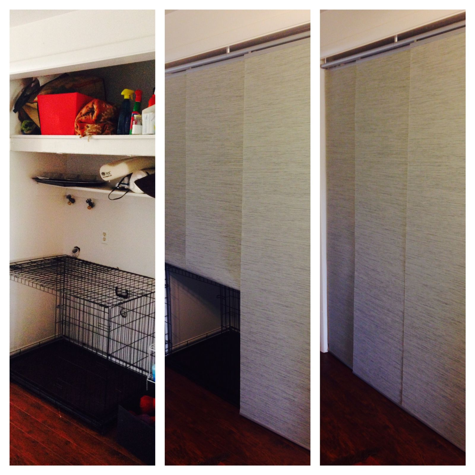 Kvartal Curtain Panel Instead Of Doors Conceals Storage Area And Dog  Kennel. Pretty Easy And