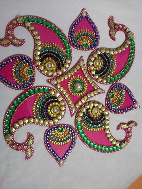 Diwali decorations craft pinterest diwali for Floor rangoli design