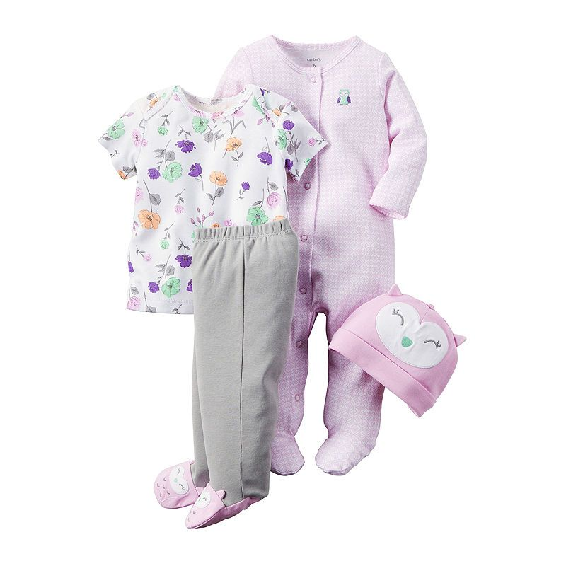 bea332b96 Carter s 4-pc. Purple Owl Layette Set - Baby Girls newborn-24m ...