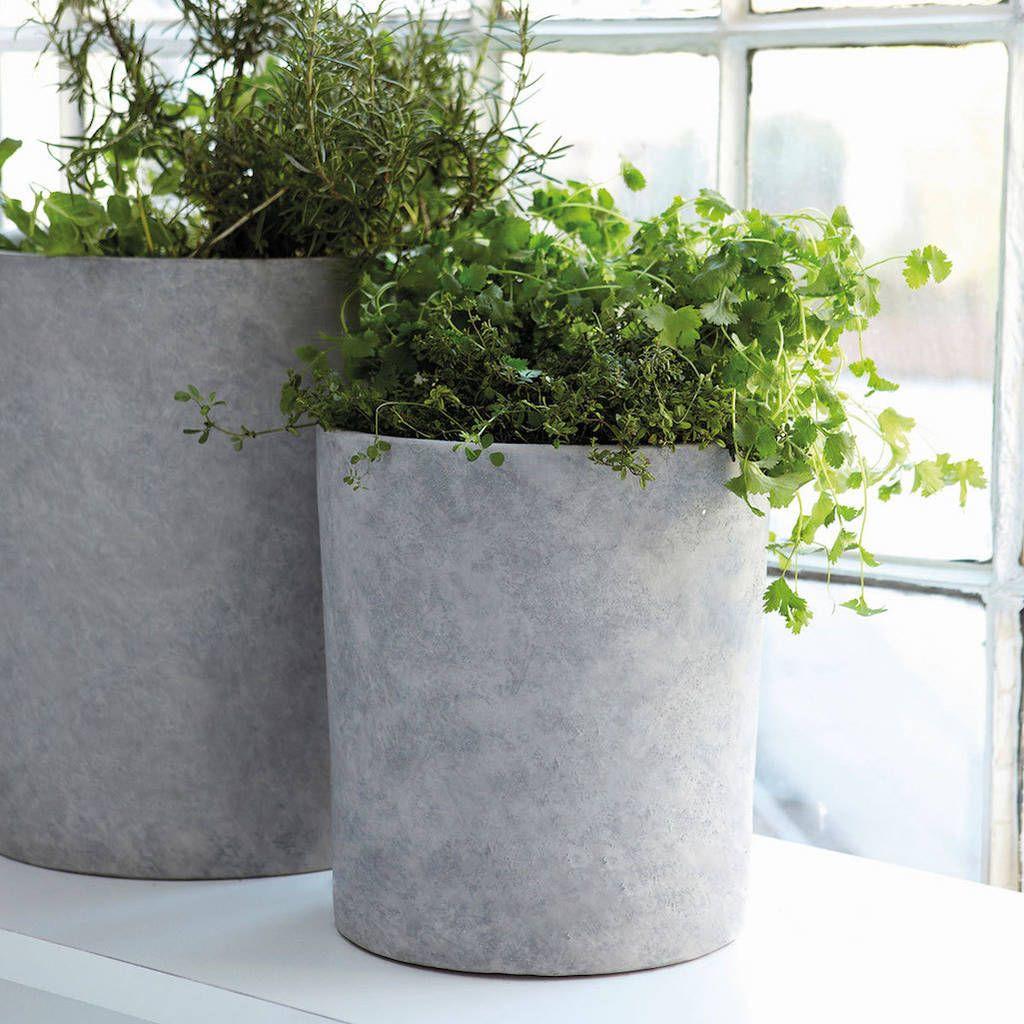 Concrete Plant Pot Set Of Three Terrasa