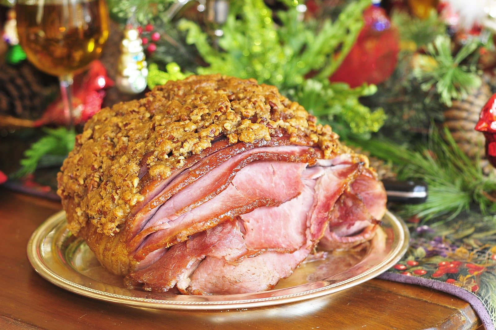 Simply Gourmet: 240. Hot Buttered Rum and Pecan Encrusted Christmas Ham
