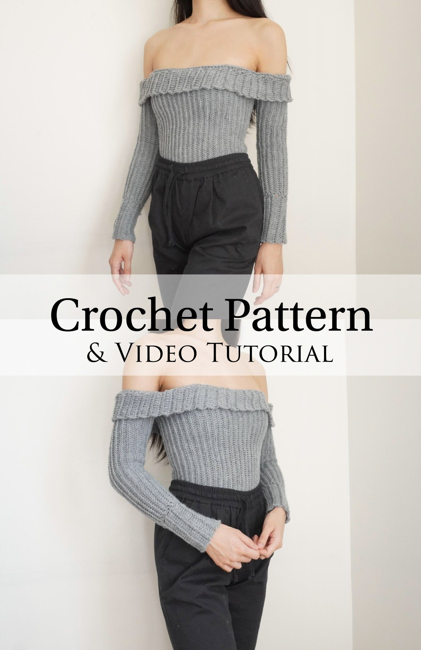 Crochet Pattern & Video Tutorial -   17 diy Clothes sweater ideas