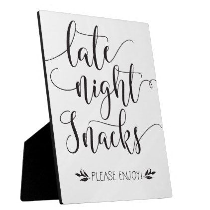 Late Night Snacks Favor Sign Plaque Wedding Gifts Marriage Love