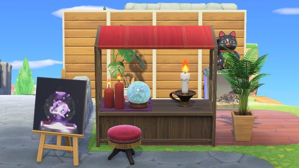 Design Tip You Can Build Outdoor Walls By Customizing Simple Panels Animalcrossing Outdoor Walls Design Outdoor