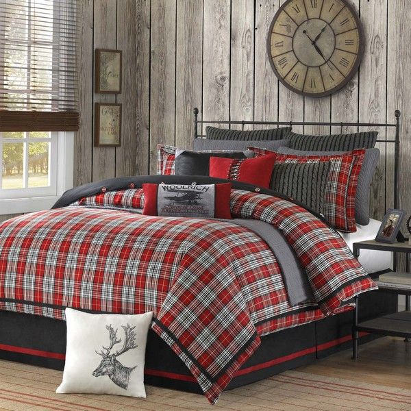 Red Brown Quilts | Home Decorating Company Woolrich Bedding Spring