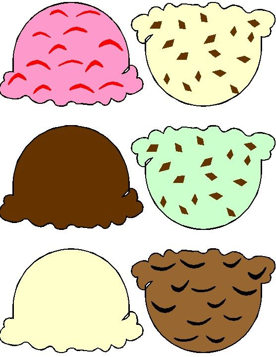 Ice cream cone printable. Kiddie craft ideas crafts