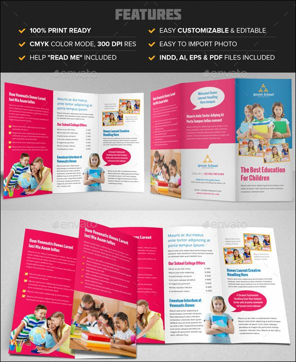100 amazing free education brochure template designs group board
