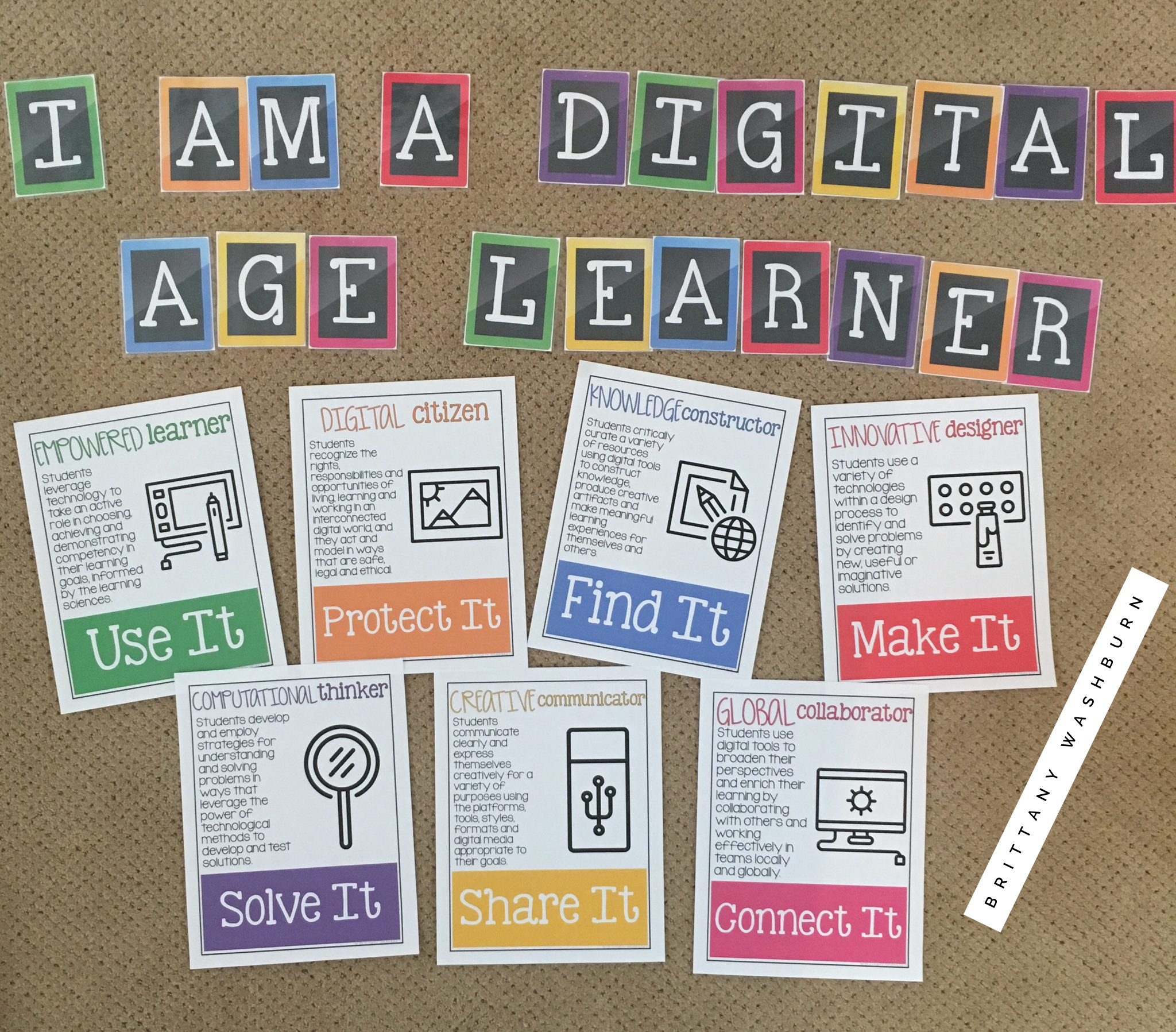 A great bulletin board or display for a tech lab or media center