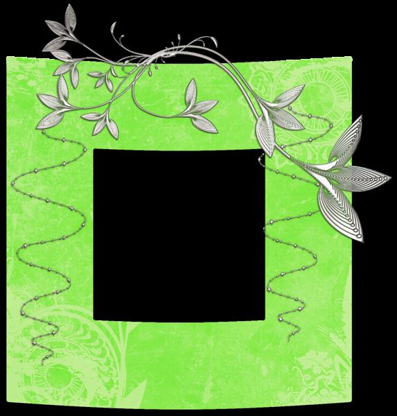 Cute Art Transparent Green Png Photo Frame Clip Art Freebies Cute Art Png Photo
