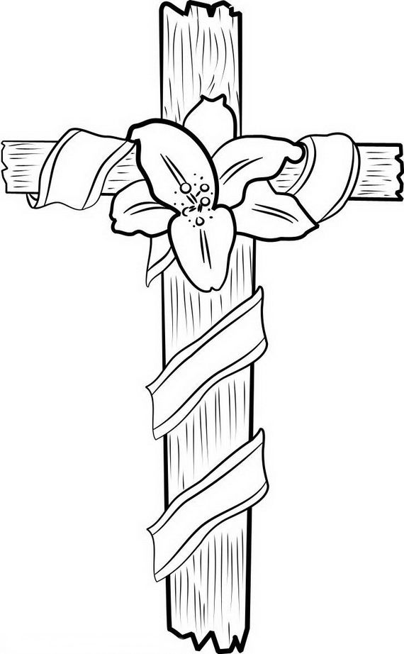 Good Friday Coloring Pages And Pintables For Kids Cross Coloring