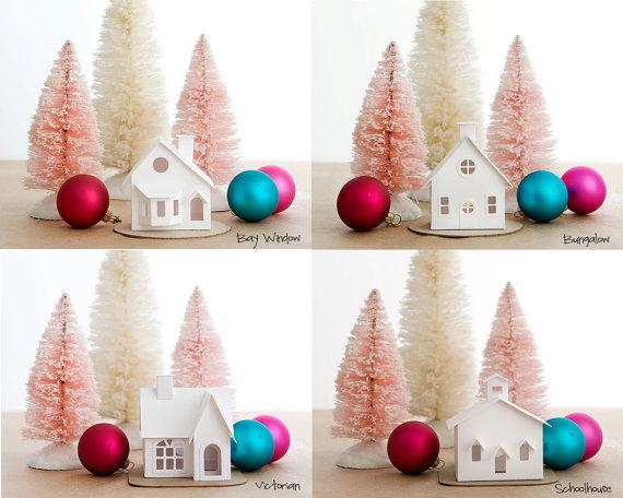 DIY Putz Village Ornament Kit 2014 di HolidaySpiritsDecor su Etsy