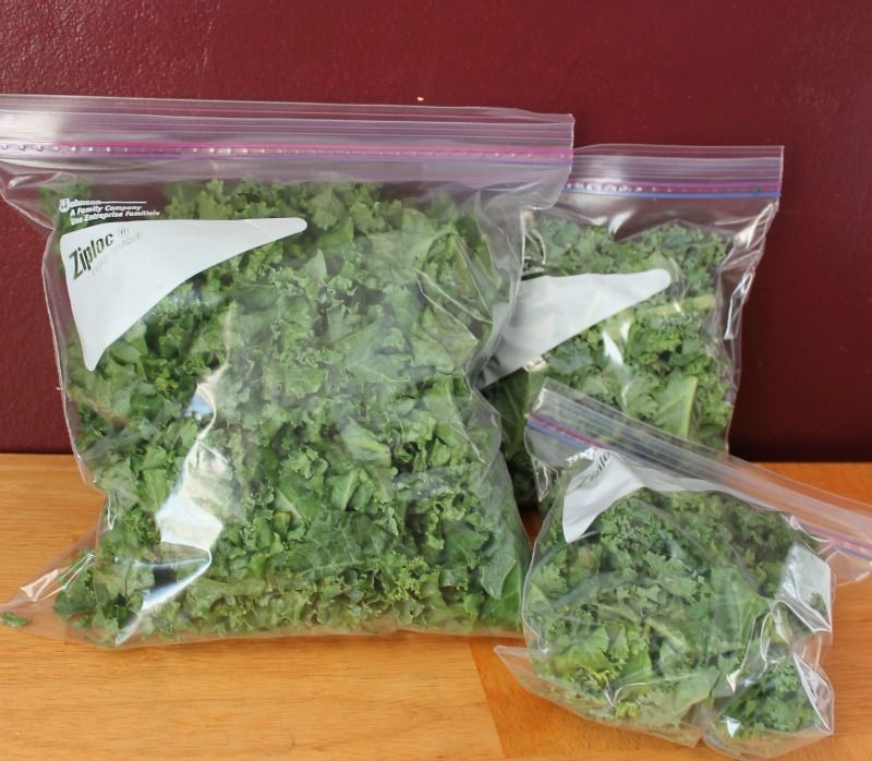how to freeze fresh spinach and kale