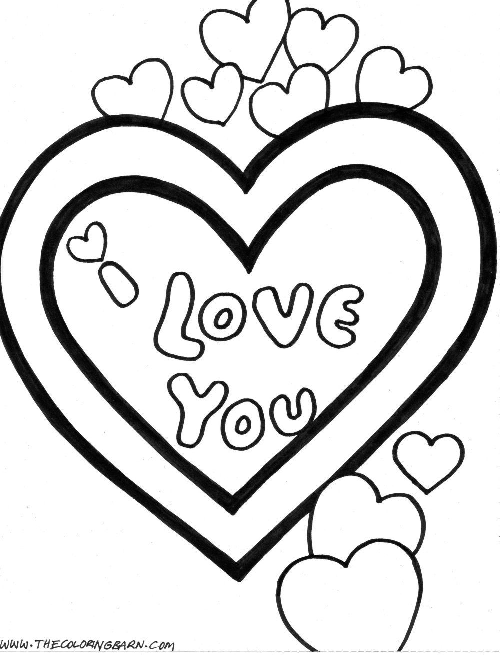 cute love coloring pages Free Large Images Valentine