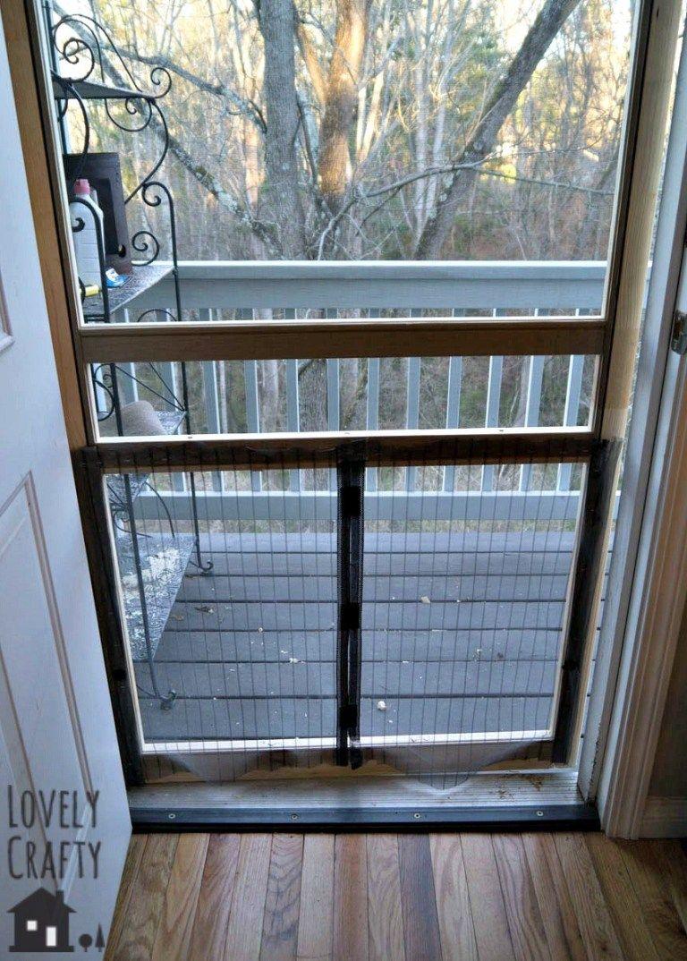 48 In X 80 In Standard Bronze Metal Sliding Patio Screen Door