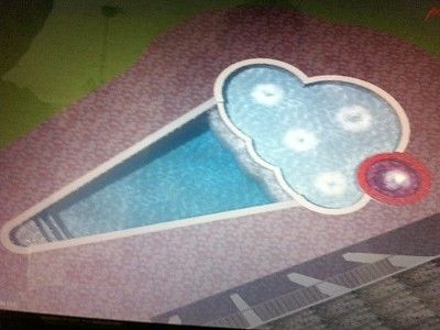 what in the world. Ice Cream Cone swimming pool.