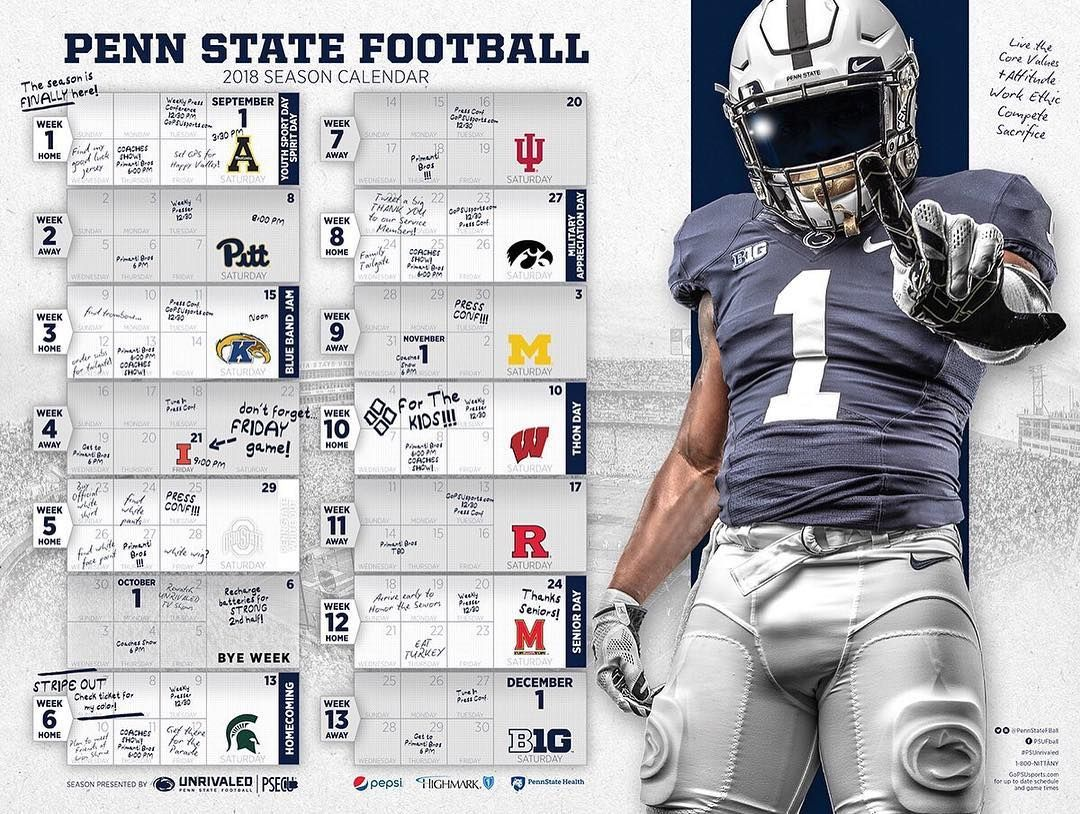 Introducing Your 2018 Football Schedule Poster Weare