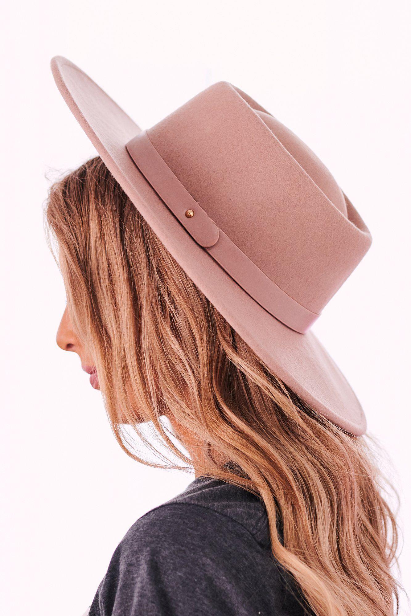 Carter Wool Wide Brim Hat Mauve In 2021 Wide Brim Hat Brim Hat Wide Brimmed