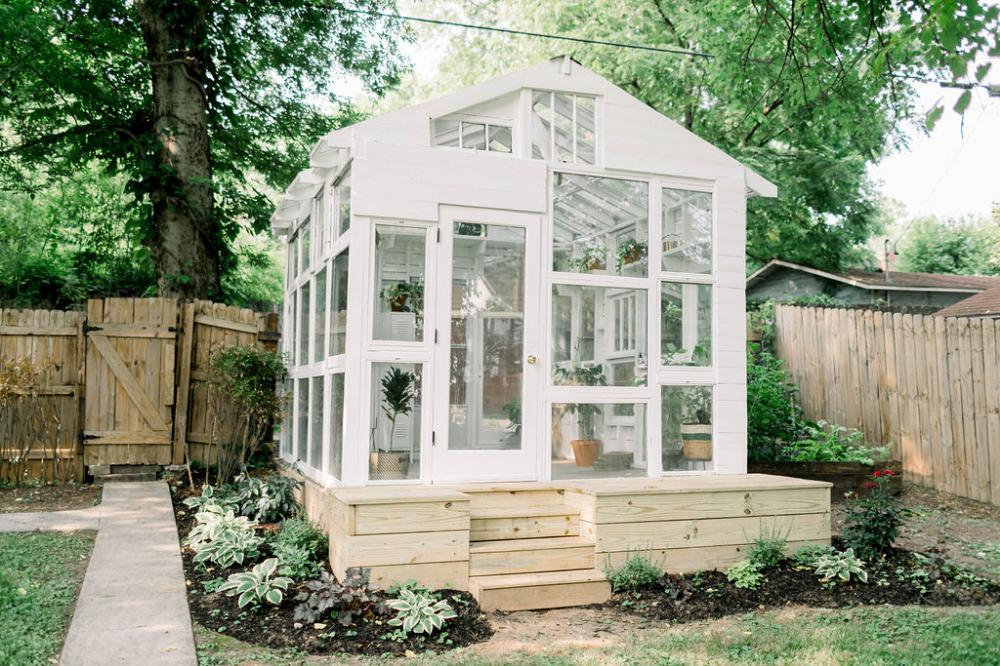 WE BUILT A GREENHOUSE! | Build a greenhouse, Greenhouse ...