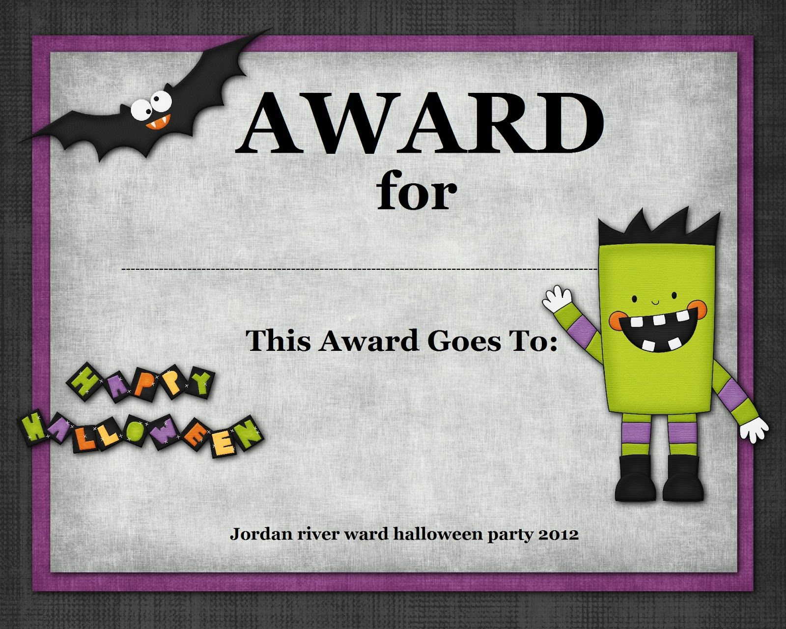 halloween costume award - Halloween Contest Prizes