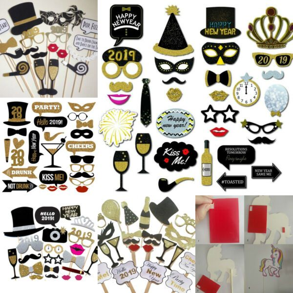 2019 New Years Eve Party Supplies Christmas Masks Photo ...