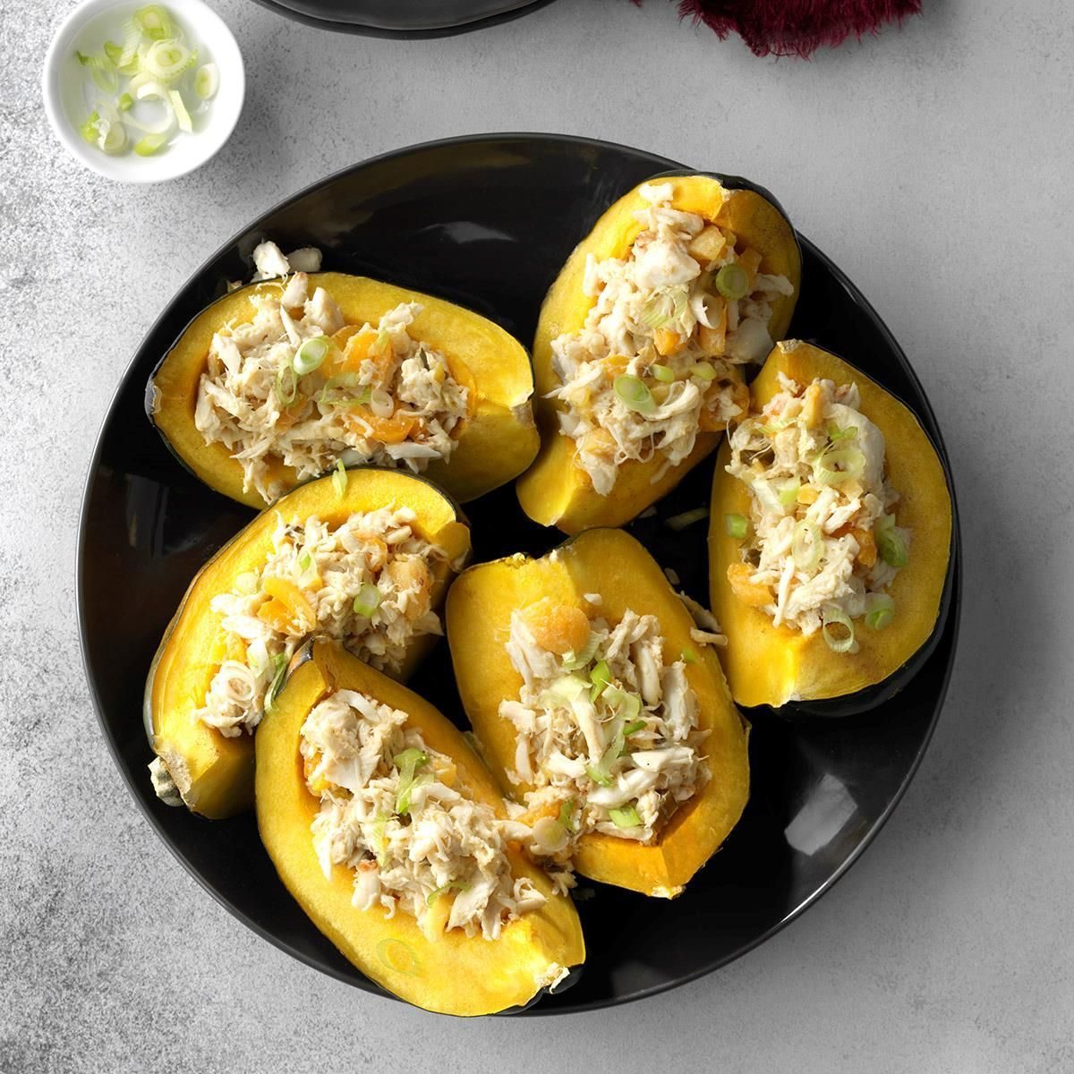 Apricot Crab Stuffed Acorn Squash Recipe In 2019 Awesome Food