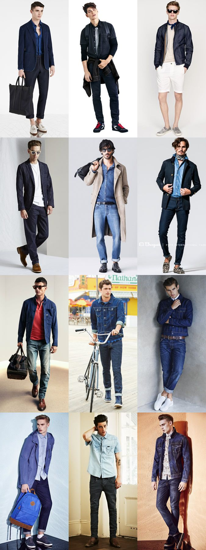 5 Trends To Master For 2015 Spring/Summer : 2) Double (Denim) Duty Lookbook Inspiration #streetstyle