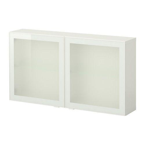 BESTÅ Mobile con ante a vetro - bianco/Glassvik vetro bianco ...