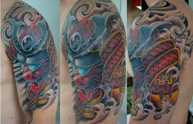 Scorpion Samurai Helmet Phoenix Tattoo Company Smaurai
