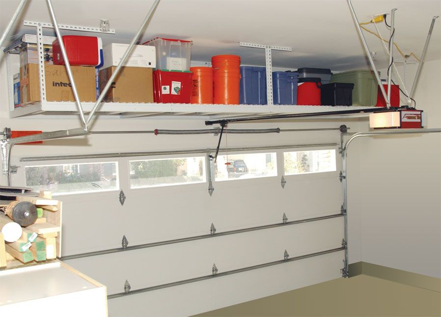 Simple Garage Storage Ideas For More Storage Spaces : Garage Overhead  Storage