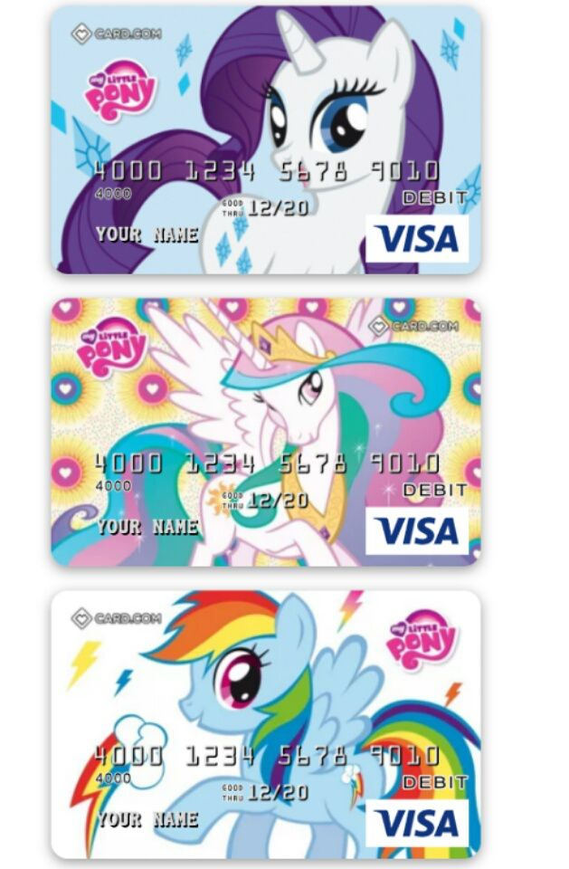 My Little Pony Debit Cards Are A Thing With Images My Little