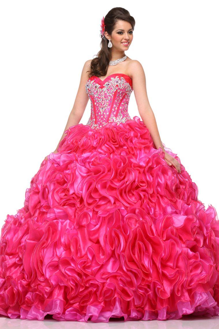 2015 Vestidos de quinceañera balón vestido de novia de longitud de ...