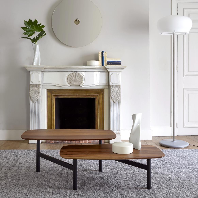 Pantographe Des Designers Muller Wulff Table Basse Architecturale Minimaliste Constituee De 2 Plateaux Superposes S Table Basse Table Basse Design Ligne Roset