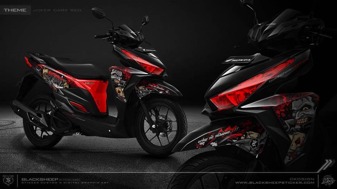 Vario 150 Joker Dark Red Cutting Sticker Vario150 Honda Joker