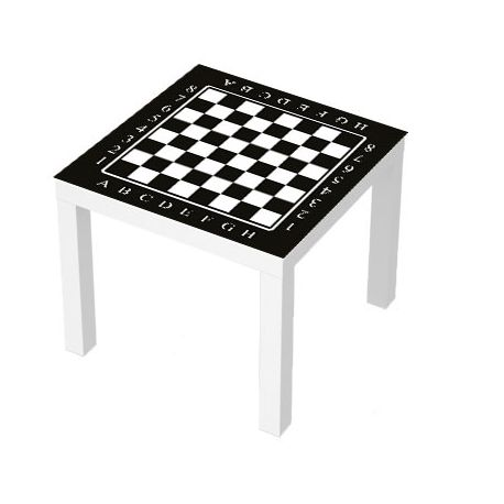 sticker table lack 55x55 echiquier stickers pour meuble. Black Bedroom Furniture Sets. Home Design Ideas