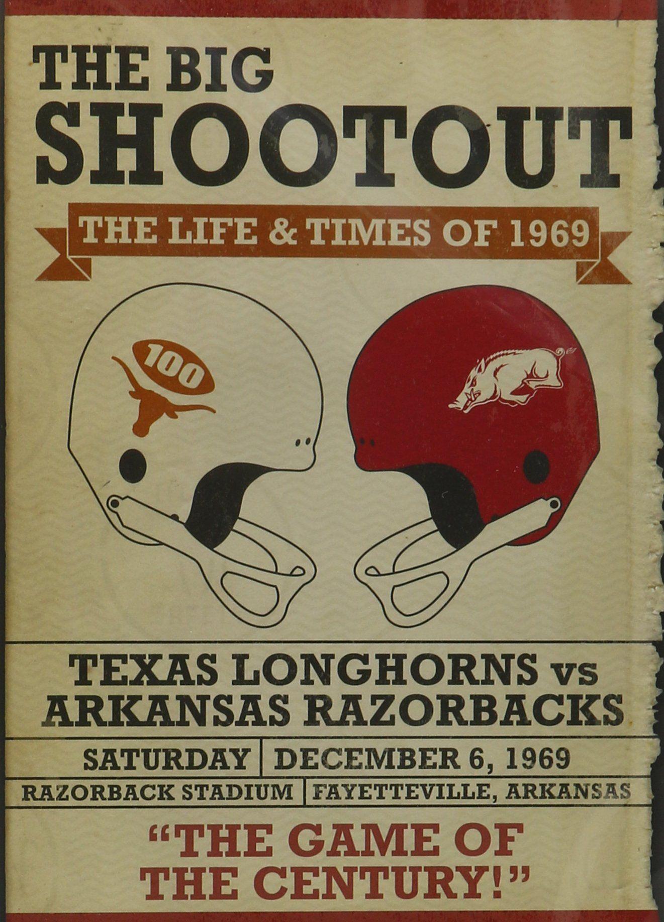 Big Shootout Life Texas longhorns, Vintage football