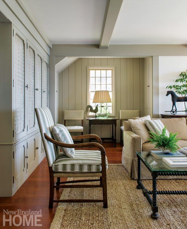 5 Ideas To Inspire A New Fall Look For A Living Room Cape Cod House Interior House And Home Magazine New England Homes #new #england #living #room